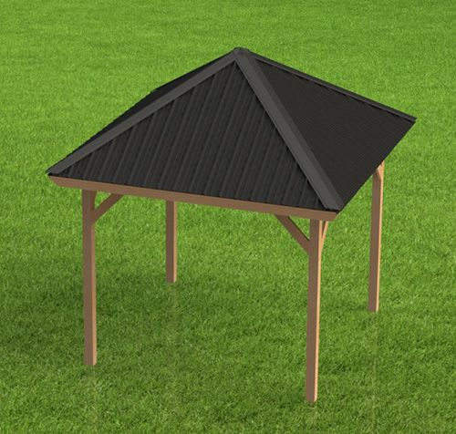 Gazebo Building Plans Hip Roof Perfect For Hot Tubs 12 X 12 In 2020 Gazebo Roof Hip Roof Gazebo