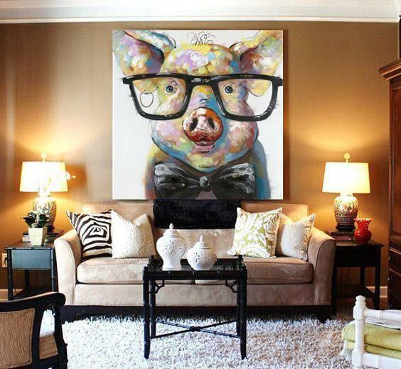 Piggy Canvas Painting