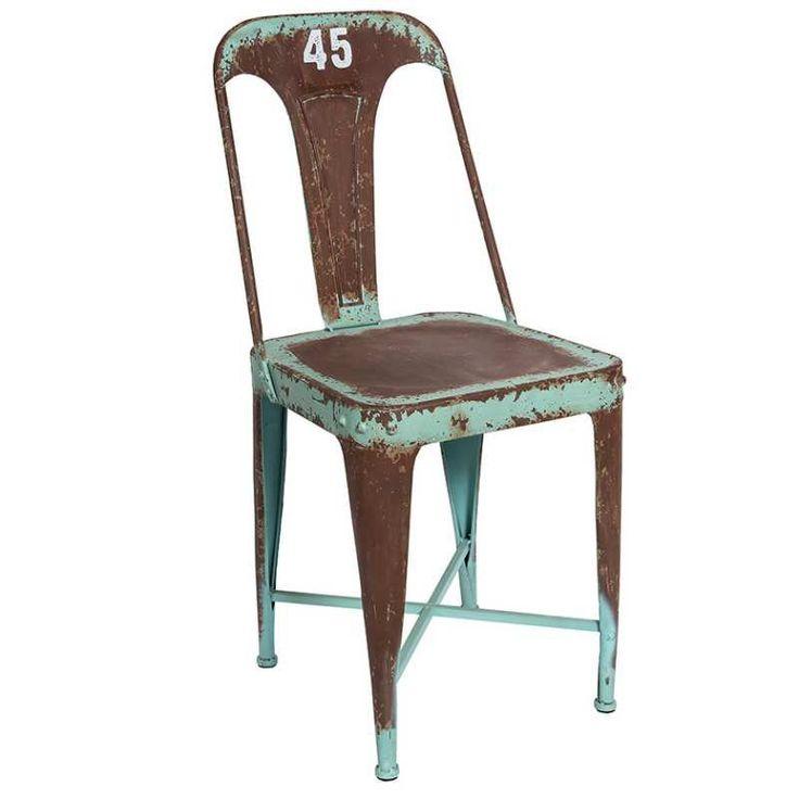 Krzesło LOFT 45 - metalowe krzesło w industrialnym stylu - NieMaJakwDomu