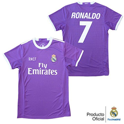 Camiseta 2ª Equipacion Oficial Replica REAL MADRID 2016-2017 Ronaldo NIÑO talla 2 años #regalo #arte #geek #camiseta
