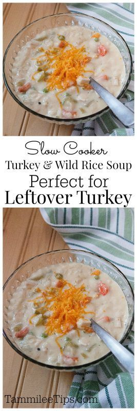 Put your leftover turkey to good use with this Turkey and Wild Rice Soup!