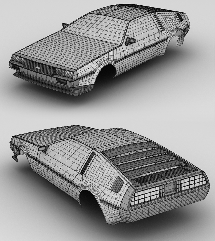 Render DeLorean