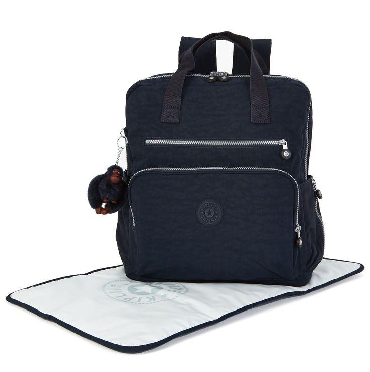 Audrie Diaper Bag Backpack - True Blue | Kipling