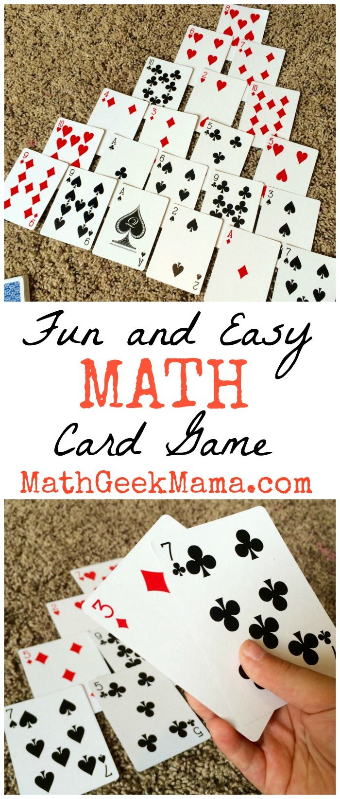 Pyramid is a simple to learn math card game that can be played with a regular set of playing cards, and helps build number sense in early math learners.