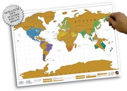 Scratch map - Landkarte zum freirubbeln