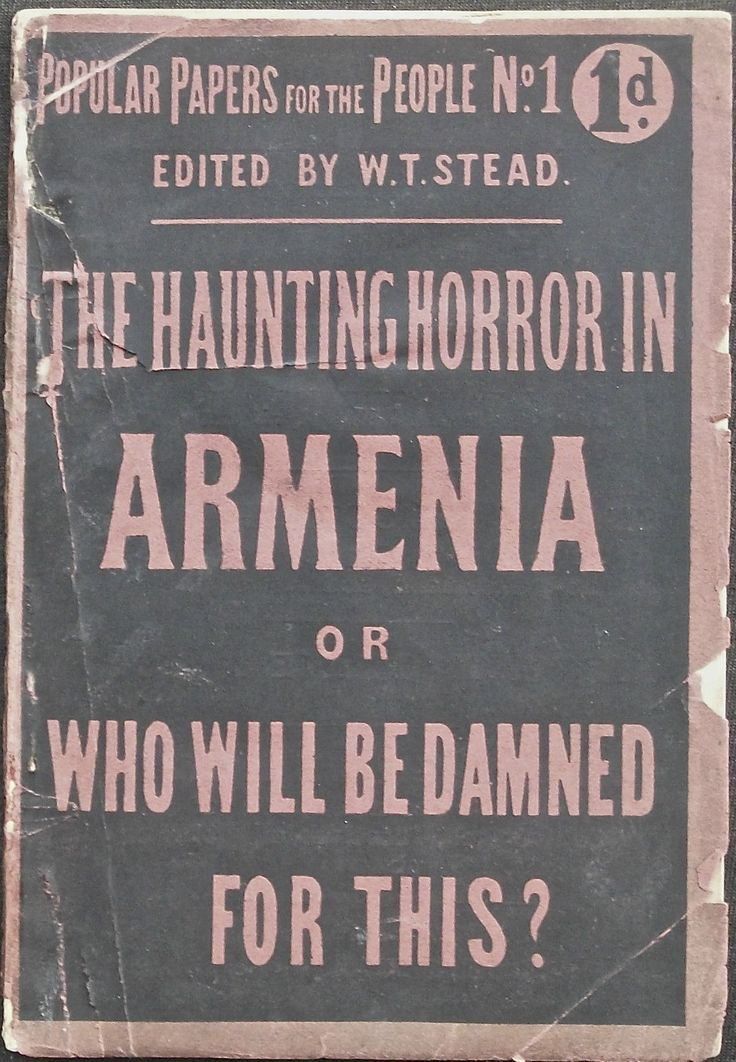 Early pamphlet on Armenian Genocide.