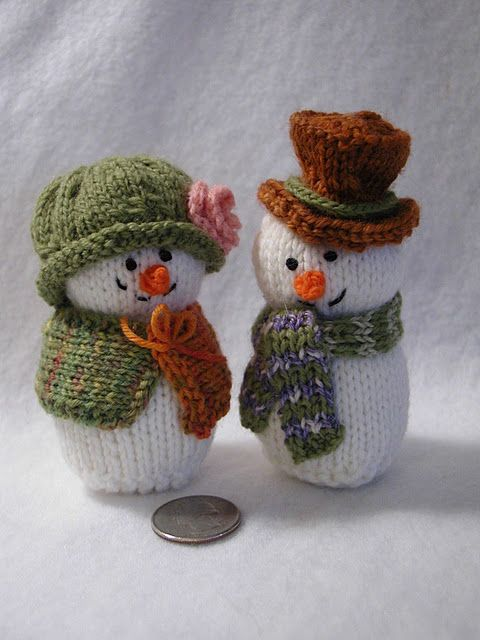 How cute they are.. snowmen