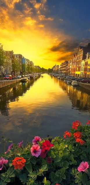 Amsterdam canal sunset ~ the Netherlands
