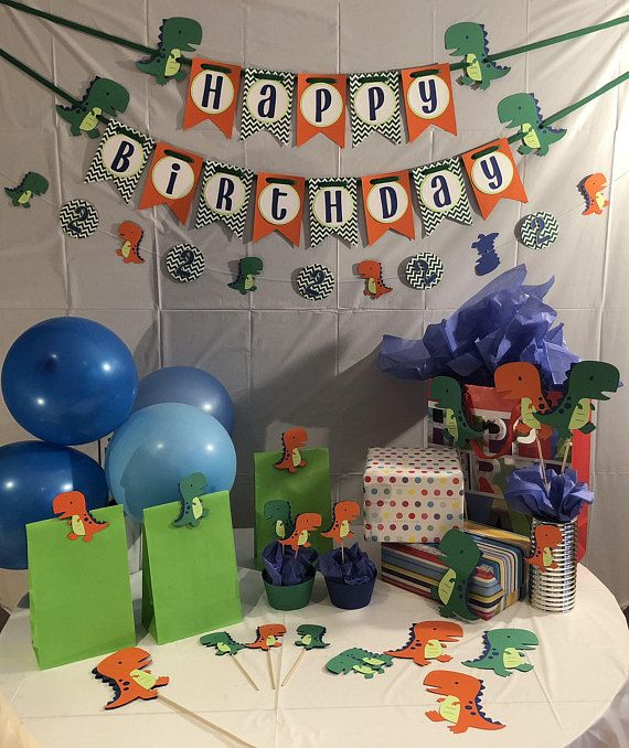 Boys Birthday Decoration Package Dinosaur Decorations T Rex Banner Dino