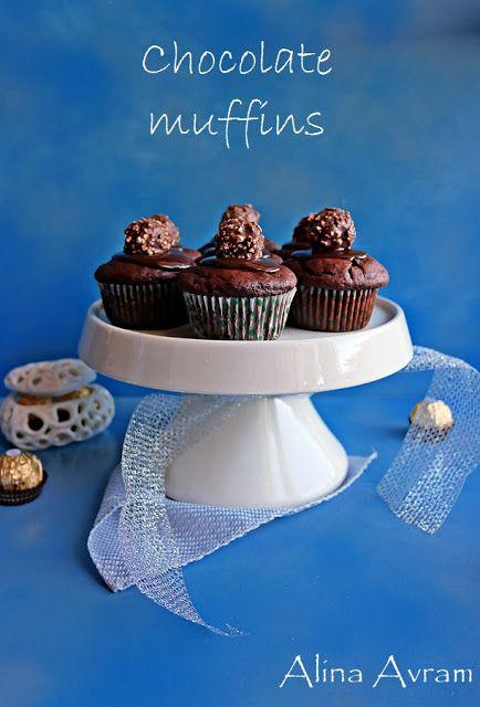 Brioșe cu bomboane de ciocolată | Alina Avram's Blog