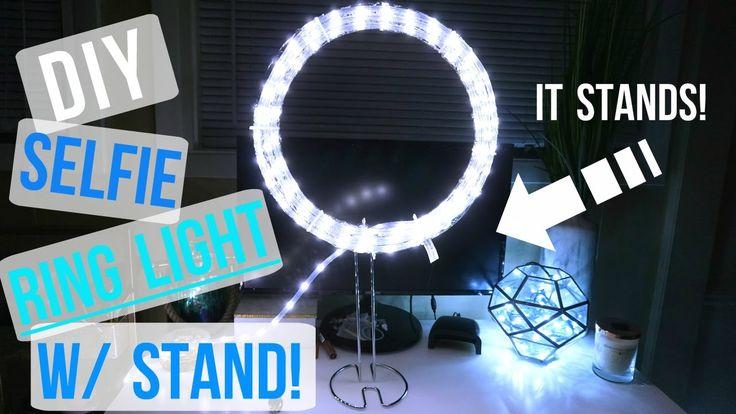 DIY INSTAGRAM SELFIE LIGHT W/ STAND!! - YouTube