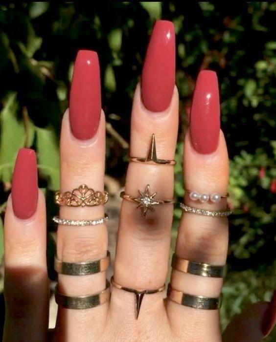 #Acrylic Nails coffin #Acrylnageldesigns #für #Herbst #und #Wi  – Nägel