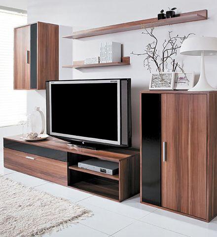 Комплект мебели для гостиной Барато ТМ Гербор Тумба для ТВ, шкафы и полки.
