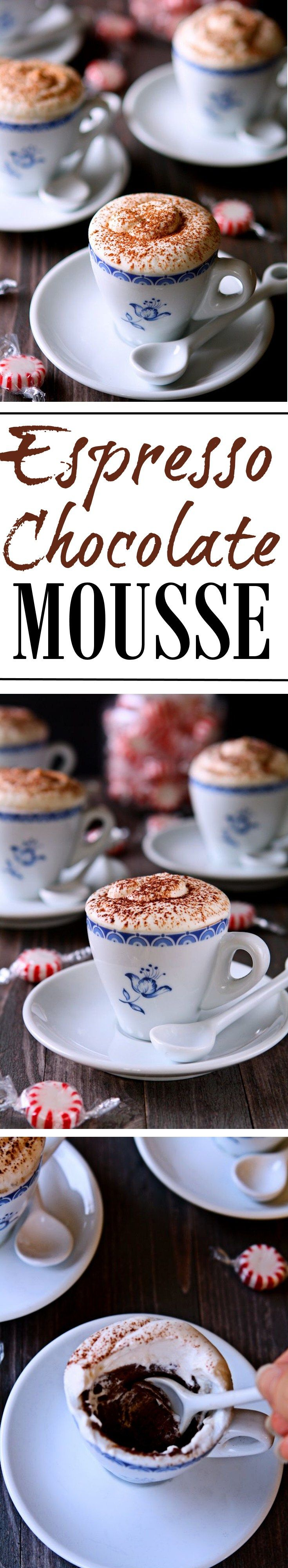 Espresso Chocolate Mousse | Oh so rich and chocolate-y! Treat yourself and your loved ones to this delicious and decadent dessert! | heavenlyhomecooking.com