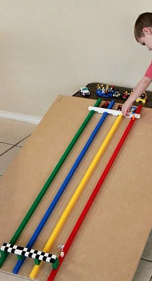 Build a LEGO Race Track for Hot Wheels Cars