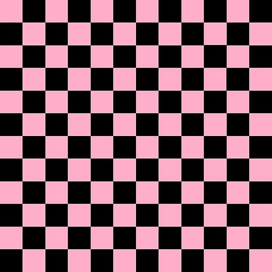 'Checkered Pink and Black ' by lornakay Wallpaper Collage, Goth Wallpaper, Cute Patterns Wallpaper, Pastel Wallpaper, Wall Collage, Cute Backgrounds, Aesthetic Backgrounds, Aesthetic Iphone Wallpaper, Cute Wallpapers