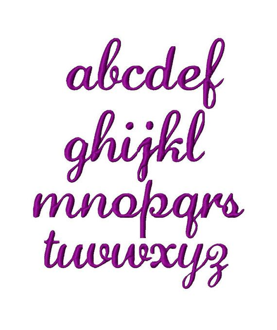 Messy Script Machine Embroidery Font  Sizes 1234 by LilliPadGifts, $5.50