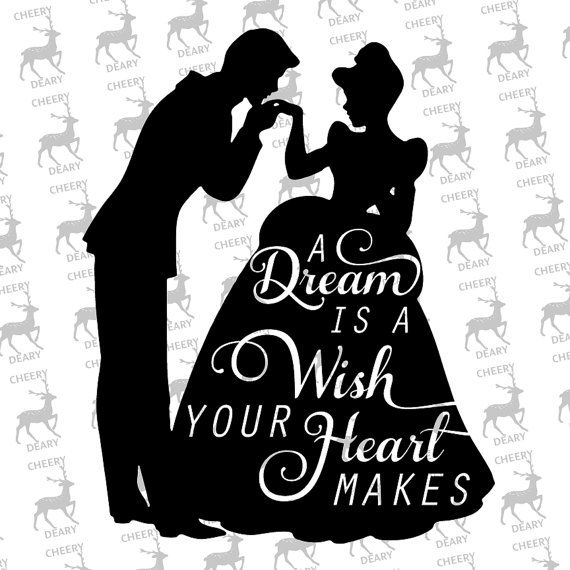 Cinderella Dream, Disney, Digital File, SVG, DXF, EPS, for use with Silhouette Studio and Cricut Design Space