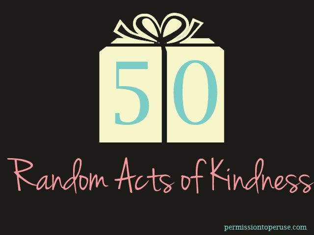 50 Random Acts of Kindness for a 50th Birthday