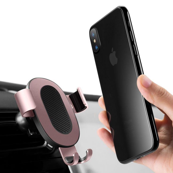 Cell Phone Holder for Car, Humixx [Wing Series] Gravity Automatic Sensing One-hand Operate Air Vent Car Mount for iPhone X / 8 / 8 Plus / 7 / 7 Plus, Samsung Galaxy S8 / S8+, LG(Rose Gold)