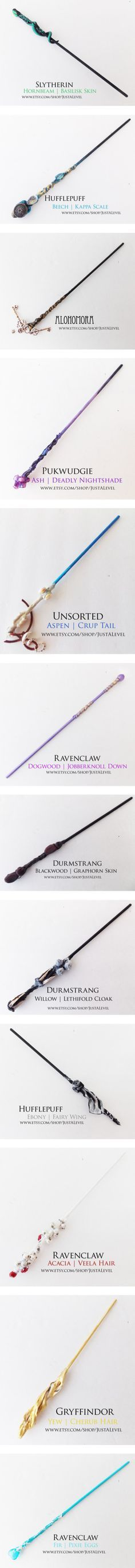 Harry Potter Inspired Wands by grandmasfood on Polyvore featuring beauty products, harry potter, wand, wands, accessories, ravenclaw wand, gryffindor wand, haircare, hair styling tools and handmade home decor