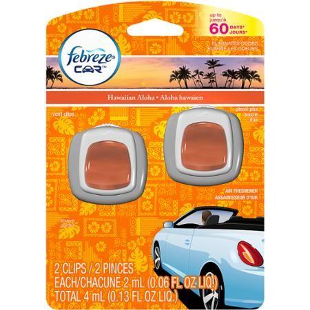 Febreze Car Vent Clips Hawaiian Aloha Air Freshener (2 ct; 2 mL ea) - Walmart.com