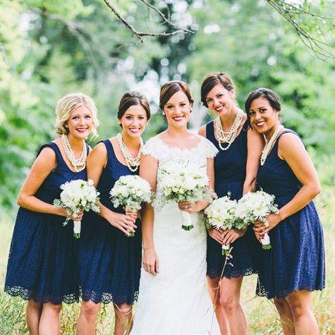 Navy Lace Bridesmaid Dresses J Crew Matt Lien Photography Theknot Bridesmaids Pinterest Wedding And