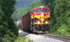 Diesel train thru the Mountains