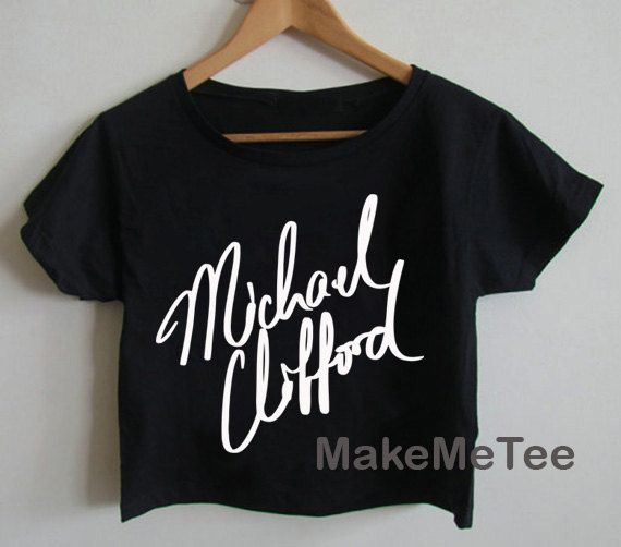 New Michael Clifford Sign 5 Seconds Of Summer 5 SOS Crop top Tank Top Women Black and White Tee Shirt - MM3
