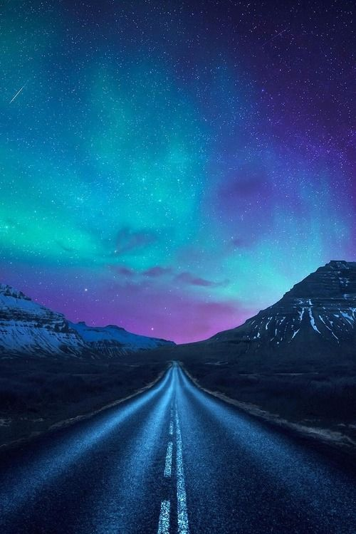 Driving towards the shining lights | by Dominic Kamp.