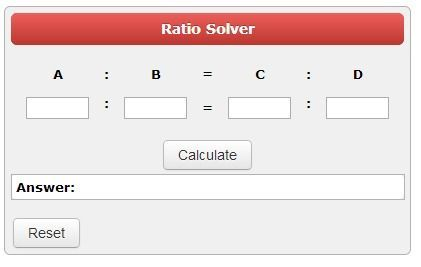 calcultorsoup.com--Ratio Calculator.  Solve ratios or proportions for the missing value.  Testing for equivalent fractions.  Can also use decimals.