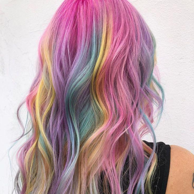 'Rainbow hair': el pelo color arcoíris está de moda esta temporada Nicki Minaj, Pelo Multicolor, Pulp Riot Hair, Mom Hairstyles, Dye My Hair, Aesthetic Hair, New Hair Colors, Crazy Hair, Rainbow Hair