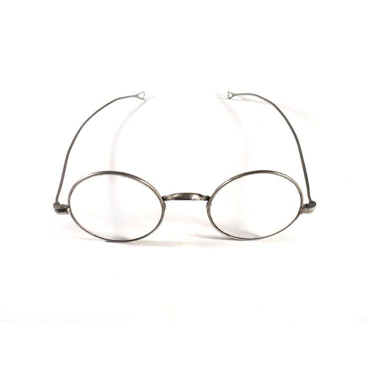 French Eyewear Glasses, Wire Rims, Metal Saddle Bridge, Oval Round Eyewear, Steampunk