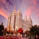 Salt Lake LDS Temple - Early morning twilight