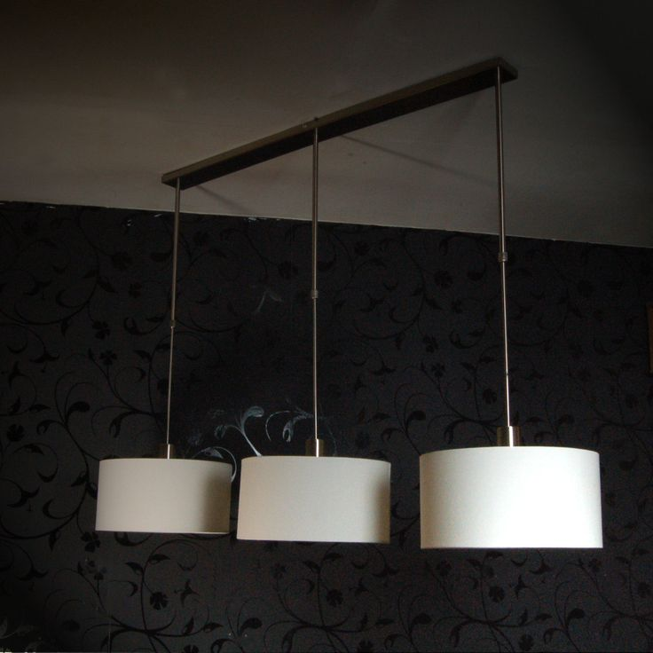 Hangelampe Toskana Ii Esstisch Leuchte 3 Schirme Creme Weiss Hohenverstellbar Neu Ebay Pendant Light Lamp Ceiling Lights