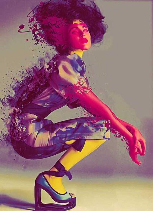WanderWorldWonderLust: Color Fashion, Art Illustrations, Splashes Of Color, Digital Paintings, Michael Ostermann, Vibrant Color, Artists Inspiration, Digital Illustrations, Fashion Illustrations