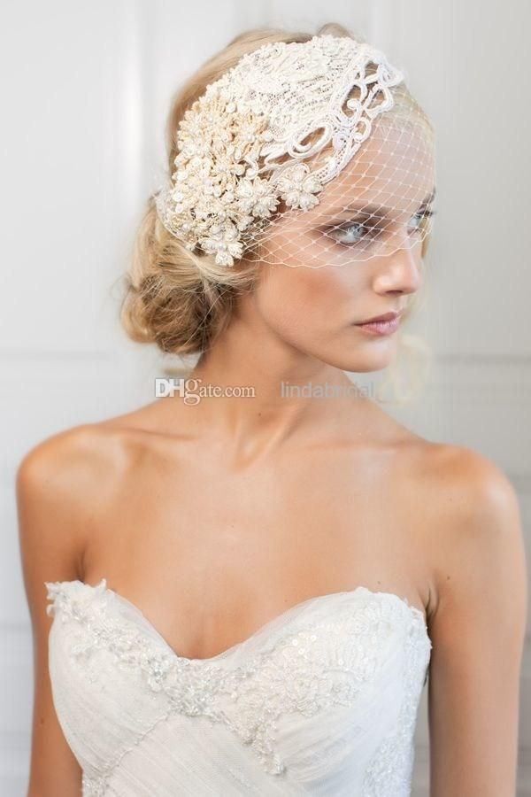 Wholesale cheap lace bridal veils online, one-Layer - Find best short applique beaded lace wedding veils birdcage veils white ivory wedding veils simple style net cheap bridal accessories In stock qT135 at discount prices from Chinese bridal veils supplier on DHgate.com.