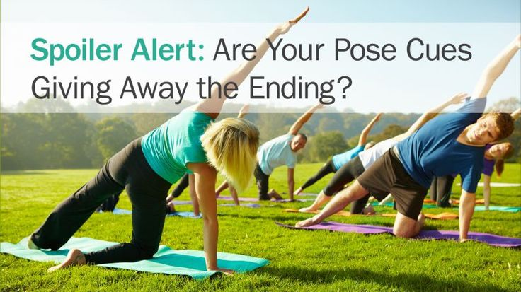 On the value of suspense in the yoga classroom.
