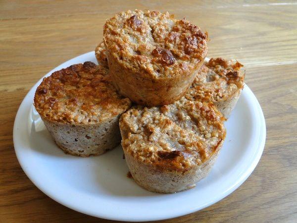 Muffins light aux flocons d'avoine et aux poires | Fitnessfriandises.fr