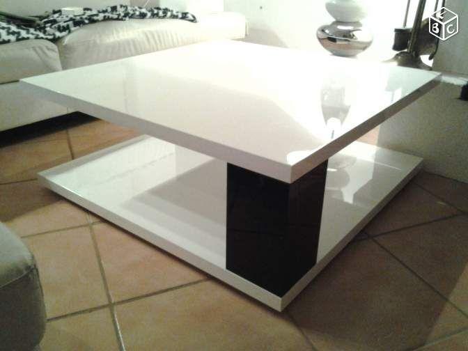 Table de salon basse laqué Ameublement Seine-Maritime - leboncoin.fr 150€