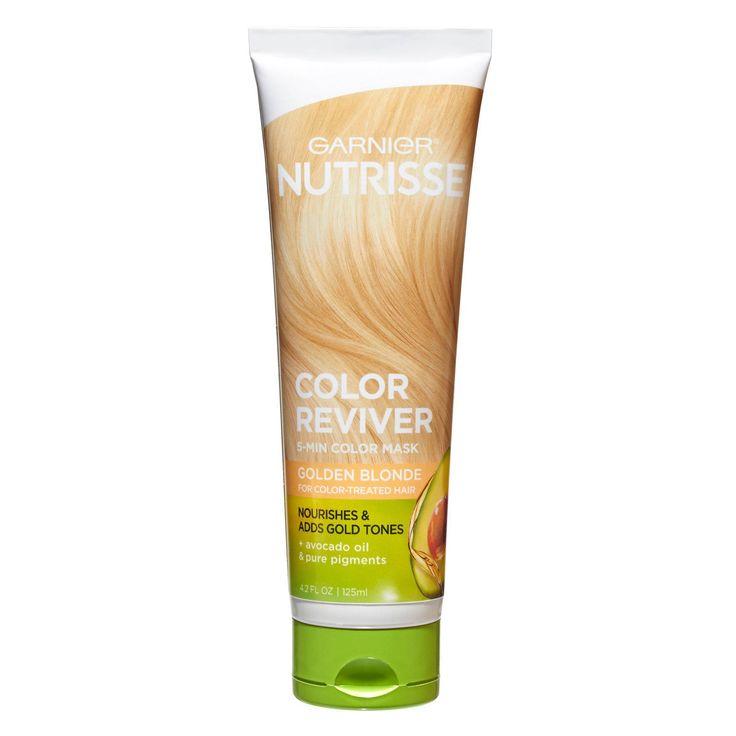 Garnier Nutrisse Color Reviver 5 Minute Nourishing Color Mask - Golden Blonde - 4.2 fl oz