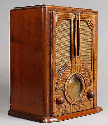 1935 Westinghouse Wr 100 Repwood Tombstone Vacuum Tube