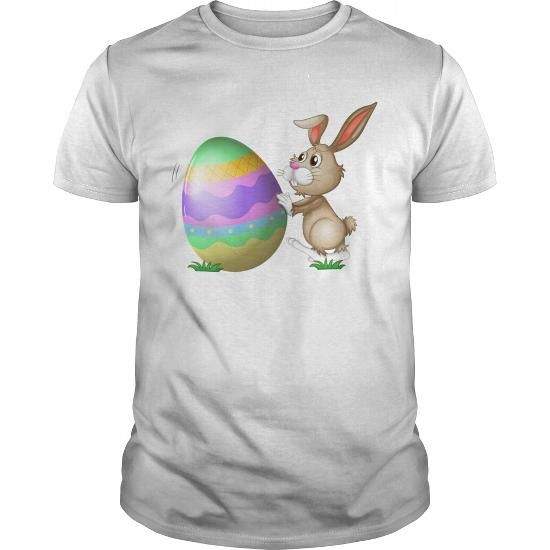 Personalized Name  easter bunny egg rolls T-Shirts