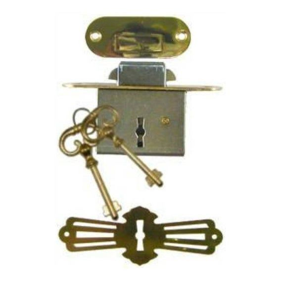 Lock Full Mortise Roll Top Desk Lock Set With Rounded Plates
