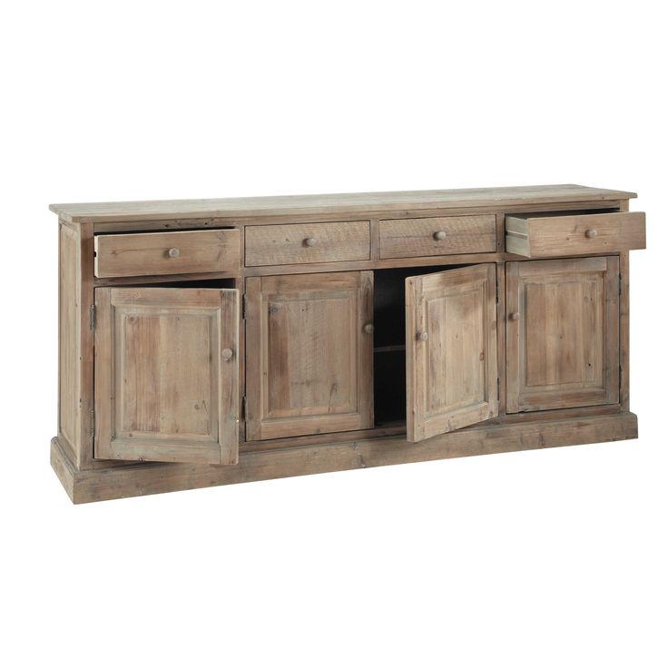 buffet en bois recycl l 195 cm pauillac maisons du. Black Bedroom Furniture Sets. Home Design Ideas