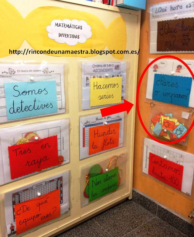 Rincón de una maestra: Matemáticas divertidas: ¿Pares o impares?