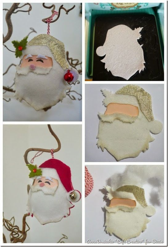 cafecreativo - sizzix big shot - christmas ornament - santa (4)