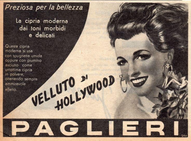 VELLUTO DI HOLLYWOOD PAGLIERI - Profumo - cm 16x12 (Grazia 1953)