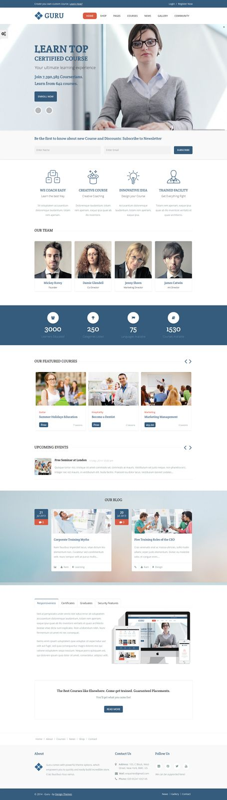 #Guru is a powerful learning management (LMS) #WordPress Theme provides awesome…
