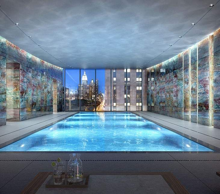 There are pools and then there are pools like this in a New York Penthouse. Staggering.
